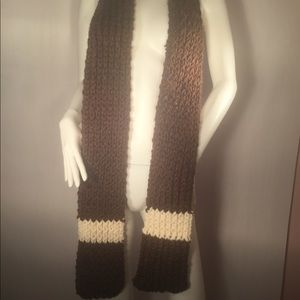 Soft Brown and White Woven Scarf!
